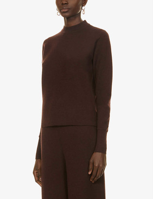 Studio Nicholson Scoop-neck wool, silk and cashmere-blend top