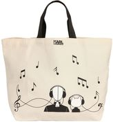 Karl Lagerfeld Canvas Music Canvas Tote Bag