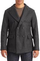 Billy Reid Peak Collar Wool-Blend Peacoat