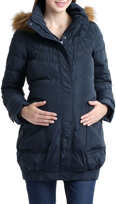 Kimi and Kai Arlo Water Resistant Down Maternity Parka with Baby Carrier Cover Inset