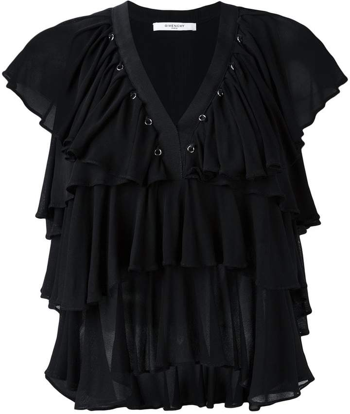 Givenchy ruffled sleeveless top