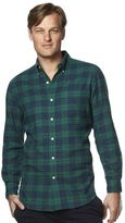 Chaps Men's Flannel Classic-Fit Open Check Button-Down Shirt