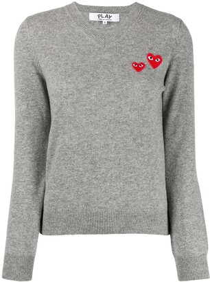 Comme des Garcons long sleeve V-neck sweater