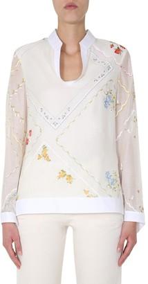 Tory Burch Handkerchief Printed Tunic