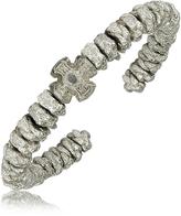 Silver Cross Popovac Be Unique and Knots Bangle Bracelet