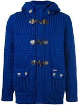 Bark knitted duffle cardigan