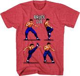 Novelty T-Shirts Bruce Lee Pixels Graphic T-Shirt