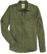 GUESS Men's Long-Sleeve Laguna Military Shirt