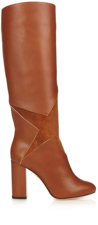Charlotte Olympia Corine star-appliqué leather boots