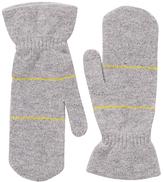 Jigsaw Barra Colour Pop Wool Mittens, Grey