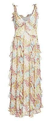 Rebecca Taylor Women's Ava Floral Ruffle Tank Dress - Size 0