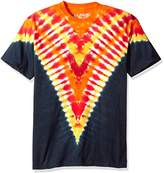 Liquid Blue Men's Firey V Unprinted Tie Dye Short Sleeve T-Shirt