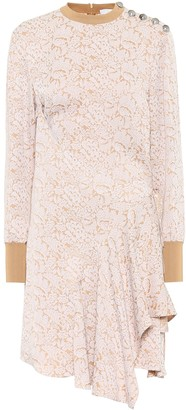 Chloé Asymmetric jacquard dress