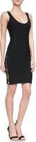 Herve Leger LilyKate Hardware Bandage Dress, Black