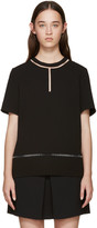 Alexander Wang Black Suspended Fishline Blouse