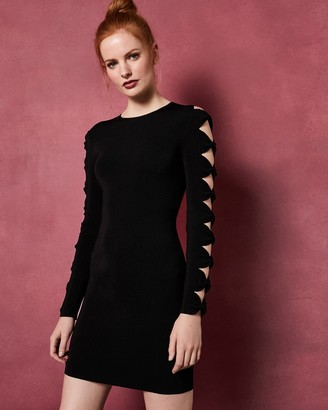 Ted Baker Knitted Sleeve Bodycon Dress