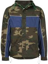 Monkey Time Camouflage Print Hooded Jacket
