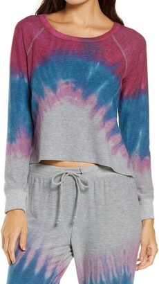 Chaser Cozy Knit Tie Dye Pullover