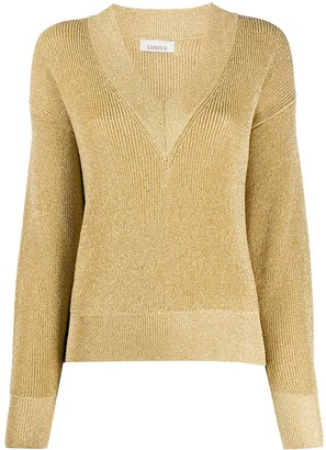 Laneus Long-Sleeve Fitted Jumper