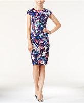 Betsey Johnson Printed Scuba Sheath Dress