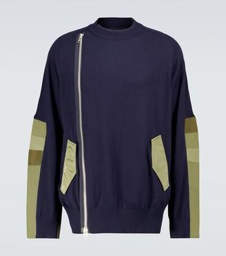 Sacai Knitted blouson jacket