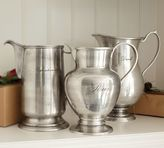 Pottery Barn Antique Silver Sentiment Pitchers