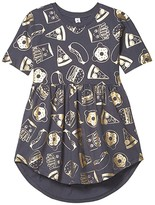 Kids Ink Huxbaby HUXBABY Gold Food Swirl Dress (Little Kids/Big Kids) (Ink) Girl's Clothing