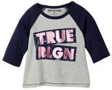 True Religion Long Sleeve Raglan Tee (Toddler & Little Girls)