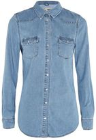Topshop Moto pocket fitted western shirt