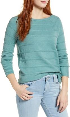 Caslon Stripe Scoop Neck Sweater