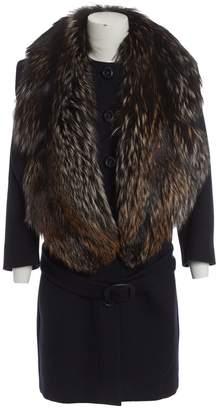 Prada Navy Wool Coats