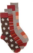 Lucky Brand Clover Crew Socks - 4 Pack - Men's