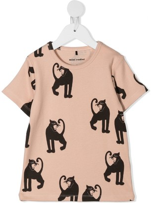 Mini Rodini panther ribbed T-shirt