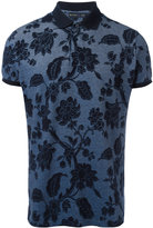 Etro floral pattern polo shirt