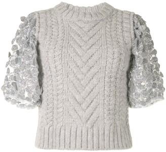 Cecilie Bahnsen Textured Sleeve Top
