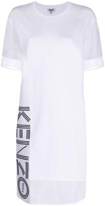 Kenzo mesh panel T-shirt dress