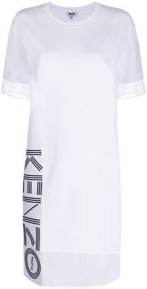 Kenzo mesh panel T-shirt dress