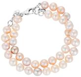 Claudia Bradby Freshwater Pearl Double Row Bracelet, Pink Mix