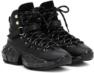 Jimmy Choo Diamond Hike/F leather sneakers