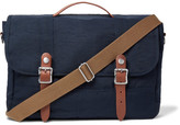 J.Crew Harwick Leather-Trimmed Nylon-Twill Messenger Bag