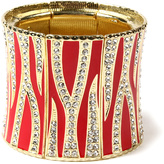 Amrita Singh Red & Goldtone Rendezvous Stretch Bracelet