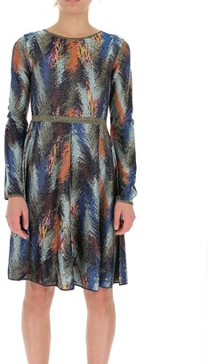 Missoni Patterned Long-Sleeve Dress