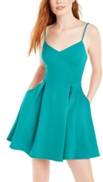 B. Darlin Juniors' Scalloped-Neck Dress