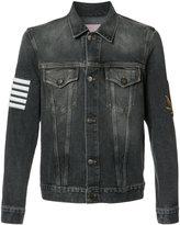 Palm Angels striped print denim jacket - men - Cotton - S