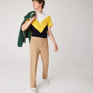 Lacoste Men's Regular Fit Geometric Colorblock Pique Polo