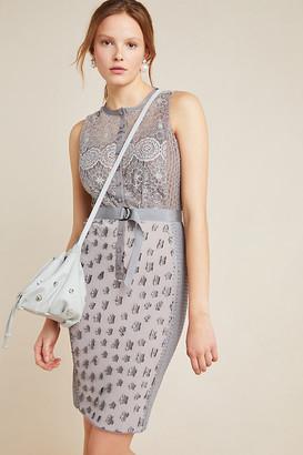 Byron Lars Gisella Lace Sheath Dress By Byron Lars in Grey Size 16W