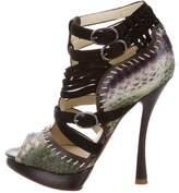 Alexandre Birman Python Caged Sandals