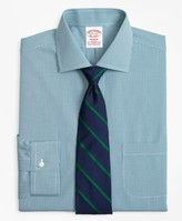 Brooks Brothers Stretch Madison Classic-Fit Dress Shirt, Non-Iron Two-Tone Gingham