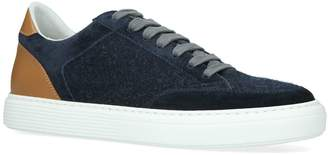 Brunello Cucinelli Leather-Wool Sneakers