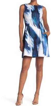 Vince Camuto Sleeveless Fit & Flare Scuba Dress